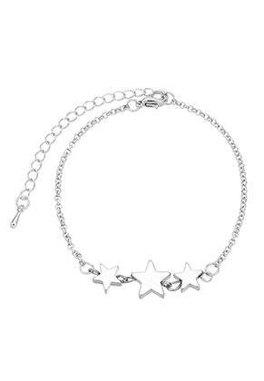 www.sayila-perlen.de - Metall Armband mit Stern 19-24cm