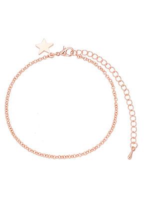 www.sayila-perlen.de - Metall Armband mit Ster 18-24cm