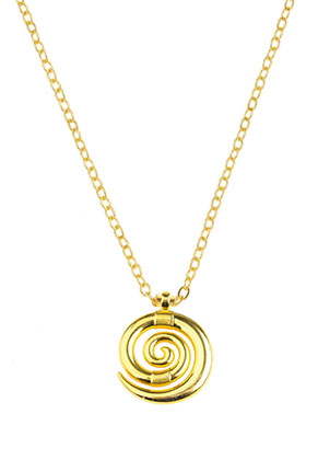 www.sayila.com - Necklace with pendant spiral 45-50cm