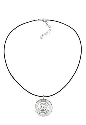 www.sayila.com - Leather necklace with pendant spiral 60-65cm