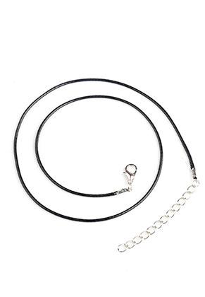 www.sayila-perlen.de - Wachsschnur Halsketten 45-50cm, 1,5mm Umfang