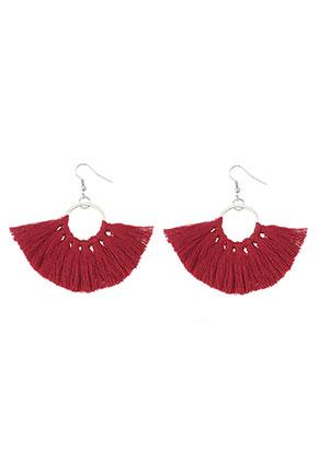 www.sayila.com - Fringe fan earrings 7x7cm
