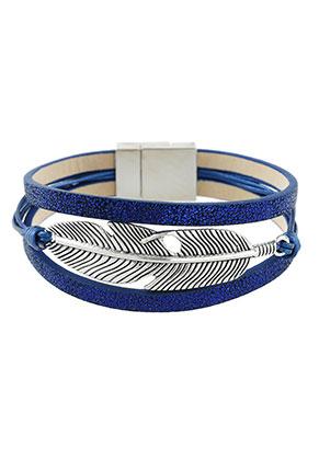 www.sayila.es - Pulsera de cuero artificial con pluma 19cm