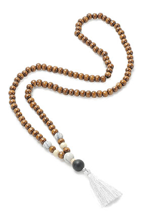 www.sayila.com - Mala necklace with tassel (108 beads) 74cm