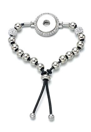 www.sayila.com - DoubleBeads EasyButton leather bracelet