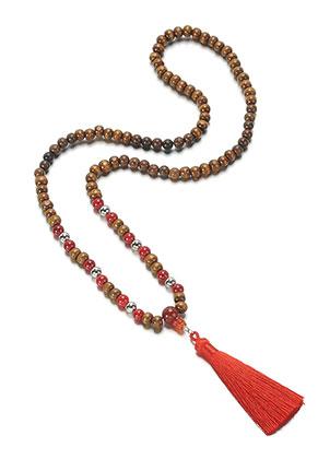www.sayila-perlen.de - Mala Halskette mit Quaste 78cm