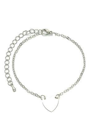 www.sayila.com - Bracelet/anklet with heart 18,5-24cm