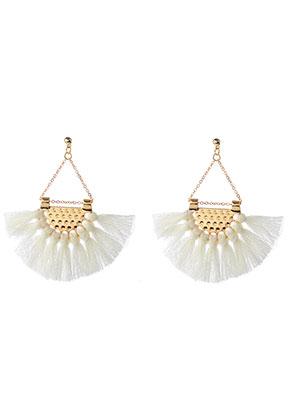 www.sayila.com - Fringe fan earrings 7x6,5cm