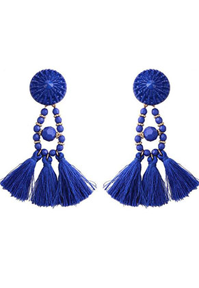 www.sayila.com - Ear studs with tassels 95x30mm