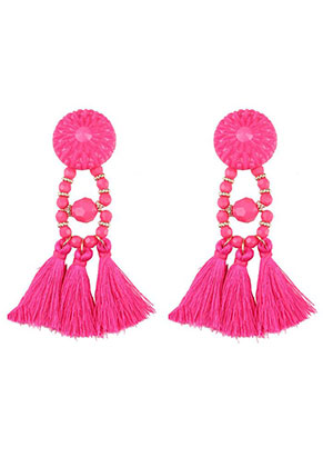 www.sayila.com - Ear studs with tassels 95x30mm