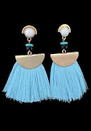 www.sayila.com - Fringe fan earrings 7x6cm