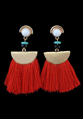 www.sayila.com - Fringe fan earrings 7x6cm
