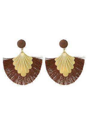 www.sayila.com - Fringe fan earrings 8x7cm