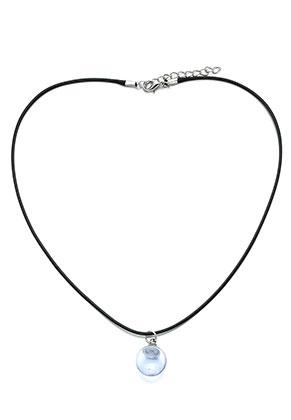 www.sayila.nl - Waxkoord halsketting met glazen bol hanger 45-50cm