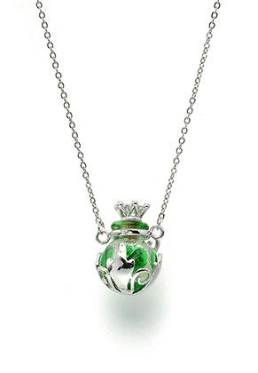 www.sayila.fr - Collier en métal avec bouteille en verre 50-55cm