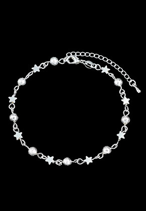 www.sayila.nl - Brass armband/enkelbandje met sterren 19,5-25cm