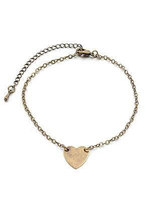 www.sayila.nl - Armband/enkelbandje met hartje 20-26cm
