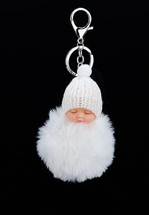 www.sayila.nl - Sleutelhanger met pluizenbol baby