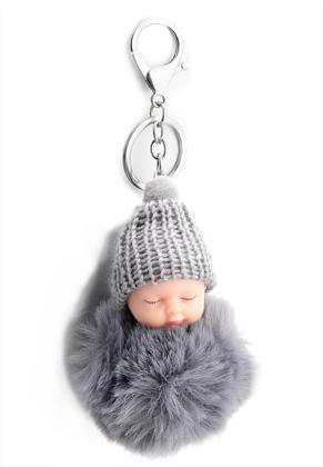 www.sayila.be - Sleutelhanger met pluizenbol baby