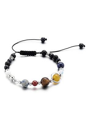 www.sayila.com - Natural stone bracelet solar system 17-25cm