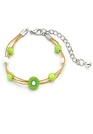 www.sayila.be - Armband met kiwi 15-21cm - J06719