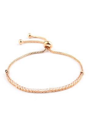 www.sayila-perlen.de - Metall Armband mit Strass 15-25cm