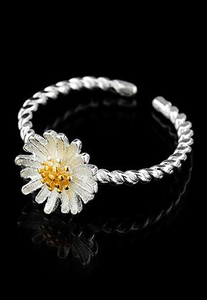 www.sayila.be - Brass ring met bloem >= Ø 15mm