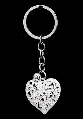 www.sayila.com - Key fob heart with strass inside and bell 9,5x3cm