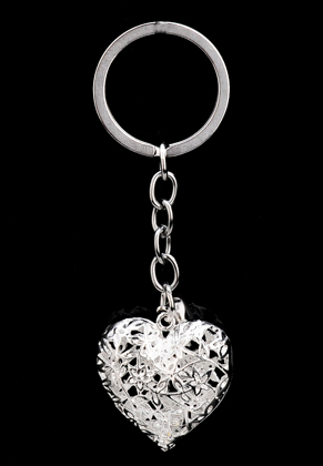 www.sayila.com - Key fob heart with strass inside and bell 9,5x3cm