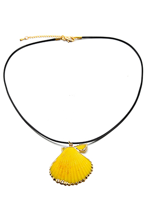 www.sayila.co.uk - Wax cord necklace with shell pendant 45-50cm