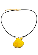 www.sayila.co.uk - Wax cord necklace with shell pendant 45-50cm - J06833