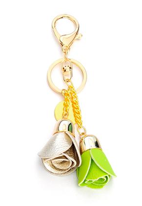 www.sayila.com - Key fob with imitation leather roses 15x6cm