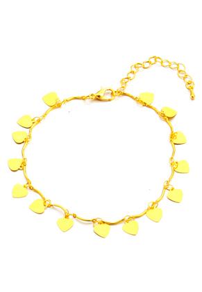 www.sayila.be - Armband/enkelbandje met hartjes 21-26cm