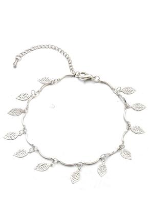 www.sayila.nl - Armband/enkelbandje met blaadjes 21-26cm