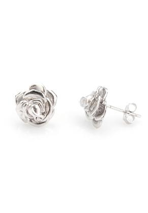 www.sayila.nl - 925 Zilveren oorstekers roosje 17,5x11mm