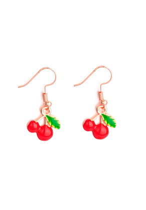 www.sayila.com - Metal earrings cherries 36x15mm