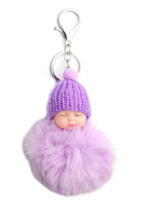 www.sayila.com - Key fob with fluff ball baby - J06929