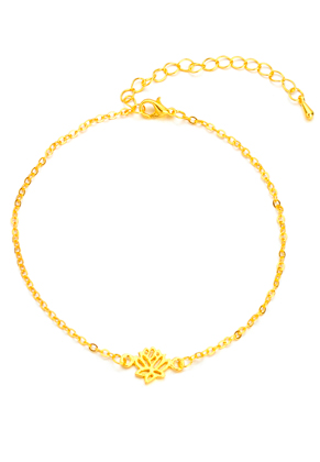 www.sayila.nl - Armband/enkelbandje met lotus 23-29cm