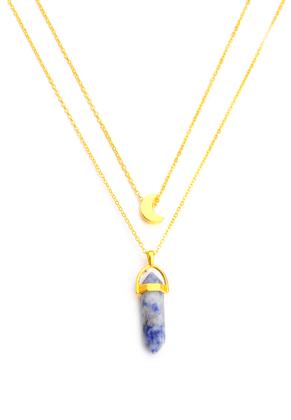 www.sayila.es - Collar a capas con colgante piedra natural Sodalite 45-50cm