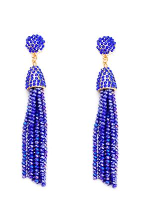 www.sayila.com - Ear studs with tassel of glass beads 9x1,5cm