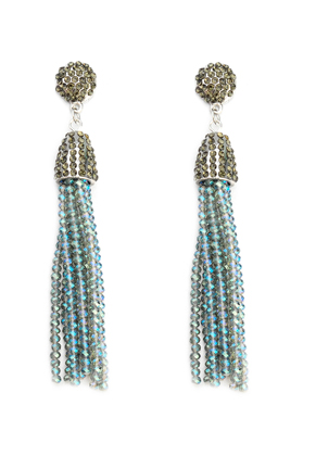 www.sayila.com - Ear studs with tassel of glass beads 9x1,5cm
