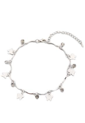 www.sayila-perlen.de - Armband/Fußkettchen mit Anhänger Schmetterlinge 22-27cm