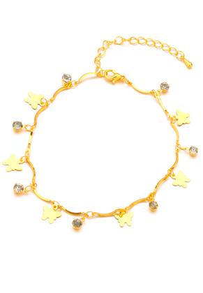 www.sayila.nl - Armband/enkelbandje met bedels vlinders 22-27cm