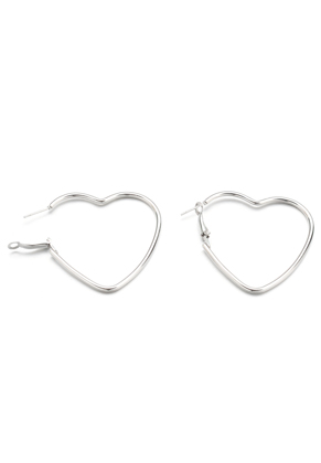 www.sayila.com - Brass hoop earrings heart 50x47mm