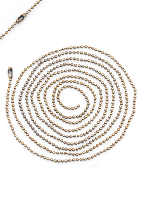 www.sayila-perles.be - Colliers ball chain en brass 100cm, 1,5mm