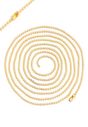 www.sayila.nl - Brass ball chain halsketting 100cm, 1,5mm dik