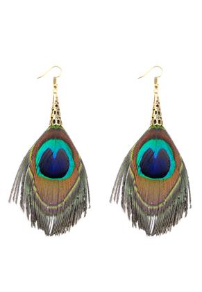 www.sayila.com - Earrings with peacock feathers 9x5cm
