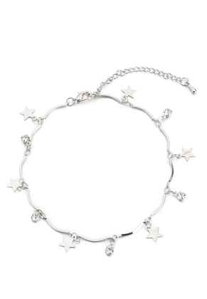 www.sayila.com - Bracelet/anklet with charms stars 20-25cm