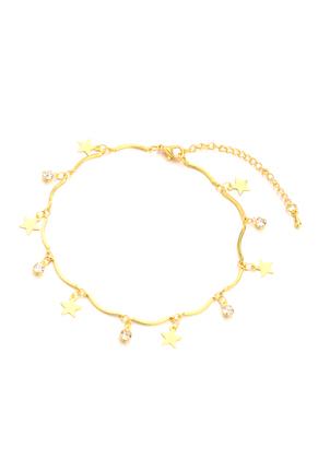 www.sayila.com - Bracelet/anklet with charms stars 20-25cm