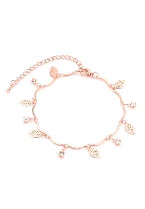 www.sayila.com - Bracelet with charms leaves 17-22cm